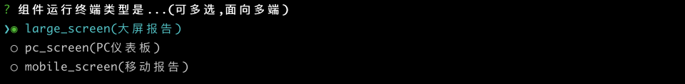 chart terminal info